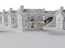 Sleutel tot een nieuw huis Stock Afbeeldingen
