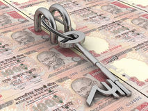 Sleutel tot financieel succes Royalty-vrije Stock Afbeeldingen