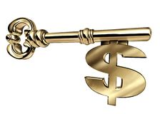 Sleutel tot geïsoleerdr succes Royalty-vrije Stock Foto