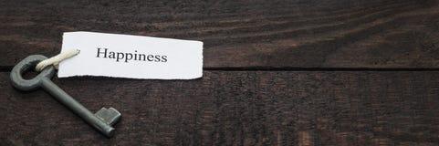 Sleutel tot geluk royalty-vrije stock foto
