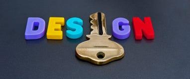 Sleutel tot groot ontwerp Stock Foto