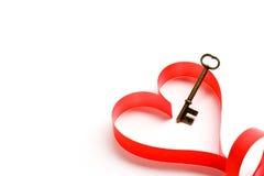 Sleutel tot het hart Stock Fotografie