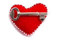 Sleutel tot het hart Stock Foto's