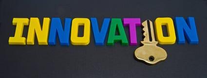 Sleutel tot innovatie: embleem? Stock Fotografie