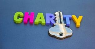 Sleutel tot liefdadigheid Stock Afbeelding