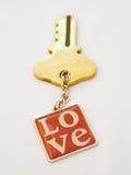 Sleutel tot liefde.   Royalty-vrije Stock Foto's