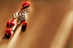 Sleutel tot liefde stock fotografie