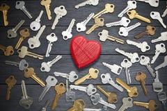 Sleutel tot Liefde royalty-vrije stock foto