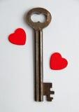 Sleutel tot mijn hart Royalty-vrije Stock Afbeeldingen