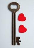 Sleutel tot mijn hart Stock Afbeeldingen