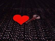 Sleutel tot mijn hart stock foto's