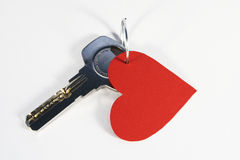 Sleutel tot mijn hart Stock Foto
