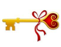 Sleutel tot Mijn Kunst 2 van de Klem van de Valentijnskaart van het Hart Royalty-vrije Stock Foto