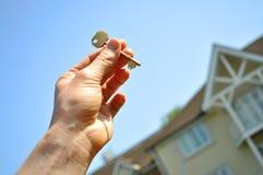 Sleutel tot nieuw huis Royalty-vrije Stock Foto's
