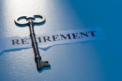 Sleutel tot Pensionering Royalty-vrije Stock Afbeelding