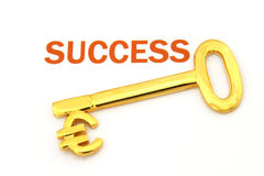 Sleutel tot succes - euro Royalty-vrije Stock Fotografie