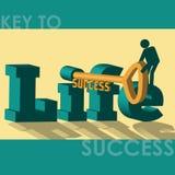 Sleutel tot succes - Illustratie Stock Fotografie