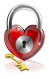 Sleutel tot uw hart Stock Fotografie