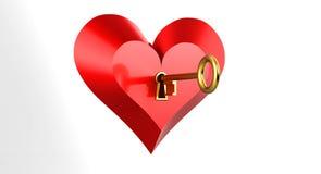 Sleutel tot uw hart Stock Afbeelding