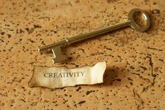 Sleutel van Creativiteit royalty-vrije stock afbeelding