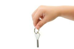 sleutel van het slot royalty-vrije stock foto