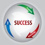 Sleutel van succes Stock Foto