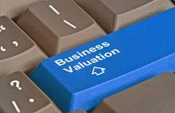 Sleutel voor bedrijfswaardevaststelling royalty-vrije stock foto