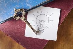 Sleutel voor goed idee Stock Afbeeldingen