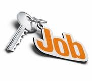 Sleutel voor het vinden van een baan royalty-vrije illustratie
