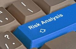 Sleutel voor risicoanalyse stock fotografie