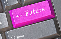 Sleutel voor toekomst Royalty-vrije Stock Afbeeldingen