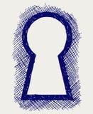 Sleutelgat Royalty-vrije Stock Foto