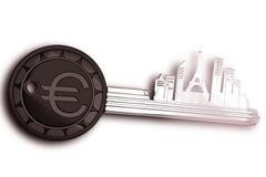 Sleutelring met cityscape van Frankrijk Stock Illustratie