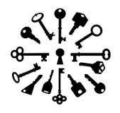 Sleutels royalty-vrije illustratie