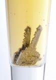 Sleutels in bier Royalty-vrije Stock Fotografie