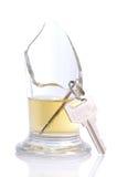 Sleutels in een gebroken glas Royalty-vrije Stock Foto