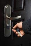 Sleutels en deur Stock Foto