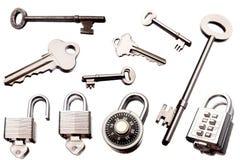 Sleutels en sloten Royalty-vrije Stock Afbeelding
