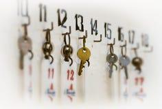 Sleutels het hangen Stock Foto's