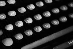 Sleutels met brieven op een oude schrijfmachine Royalty-vrije Stock Fotografie