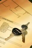 Sleutels op Documenten Royalty-vrije Stock Fotografie