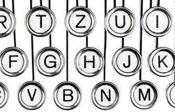 Sleutels op een schrijfmachine royalty-vrije stock afbeeldingen