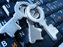 Sleutels op het toetsenbord Royalty-vrije Stock Afbeeldingen