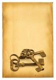Sleutels op papier royalty-vrije stock foto's