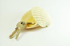 Sleutels in shell Royalty-vrije Stock Fotografie