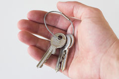 Sleutels ter beschikking Stock Foto