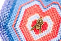 Sleutels tot het bevroren hart Stock Foto's