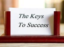 Sleutels tot succes Stock Foto's
