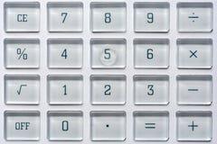 Sleutels van een calculator op wiskunde en statistieken stock afbeelding