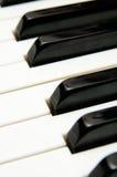 Sleutels van een grote piano Royalty-vrije Stock Foto